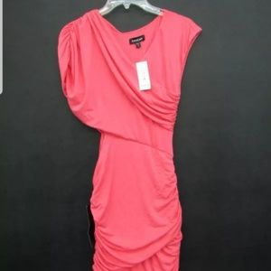 NWT PINK SPANDEX BEBE DRESS, SIZE MEDIUM
